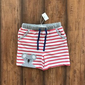 Mini Boden Koala Bear Shorts Jersey Striped Shorts